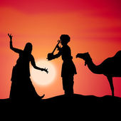 Performing folk dance — Stock Photo