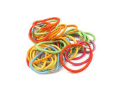 Women's multi-colored rubber bands — Stock Photo