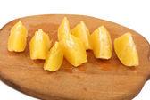 Slice circle of sweet tasty orange — Stock Photo