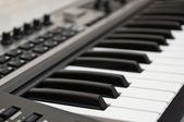 The keyboard of the electronic piano — Stock Photo