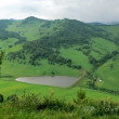 View from mountain on lake — Stock Photo