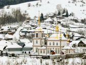 Orthodox church in the winter — Stock Photo