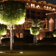 Emirates Palace garden. Abu Dhabi — Stock Photo