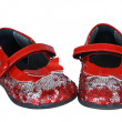 Red Baby's Shoes — Foto Stock
