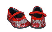 Red Baby's Shoes — Stock Photo