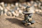 Stones pyramid — Stock Photo