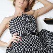 Checkered dress — Stock Photo