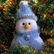 Snowball in blue hat — Stock Photo #1295923