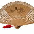 Wooden fan — Stock Photo