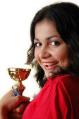 Girl with a goblet — Stock Photo