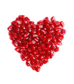 Pomegranate in the form of heart — Stock Photo