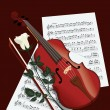 Royalty-Free Stock Vectorielle: Violin and rose
