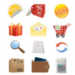 Shopping icons - Stok Vektör