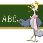 Cartoon abc. teacher — Stock Vector