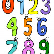 Stock Vector: Cartoon numbers