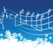 Winter music — Stock Vector