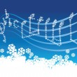 Winter music — Image vectorielle