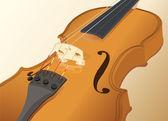 Close-up of a violin — Stock Vector