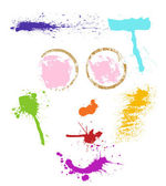 Color stain face — Stock Vector