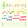 Musical elements — Imagen vectorial