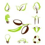 Eco icônes set1 — Vecteur