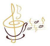 Líneas de la taza de café — Vector de stock