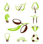 Eco icone set1 — Vettoriale Stock
