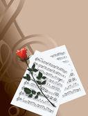 Romantik müzik — Stok Vektör