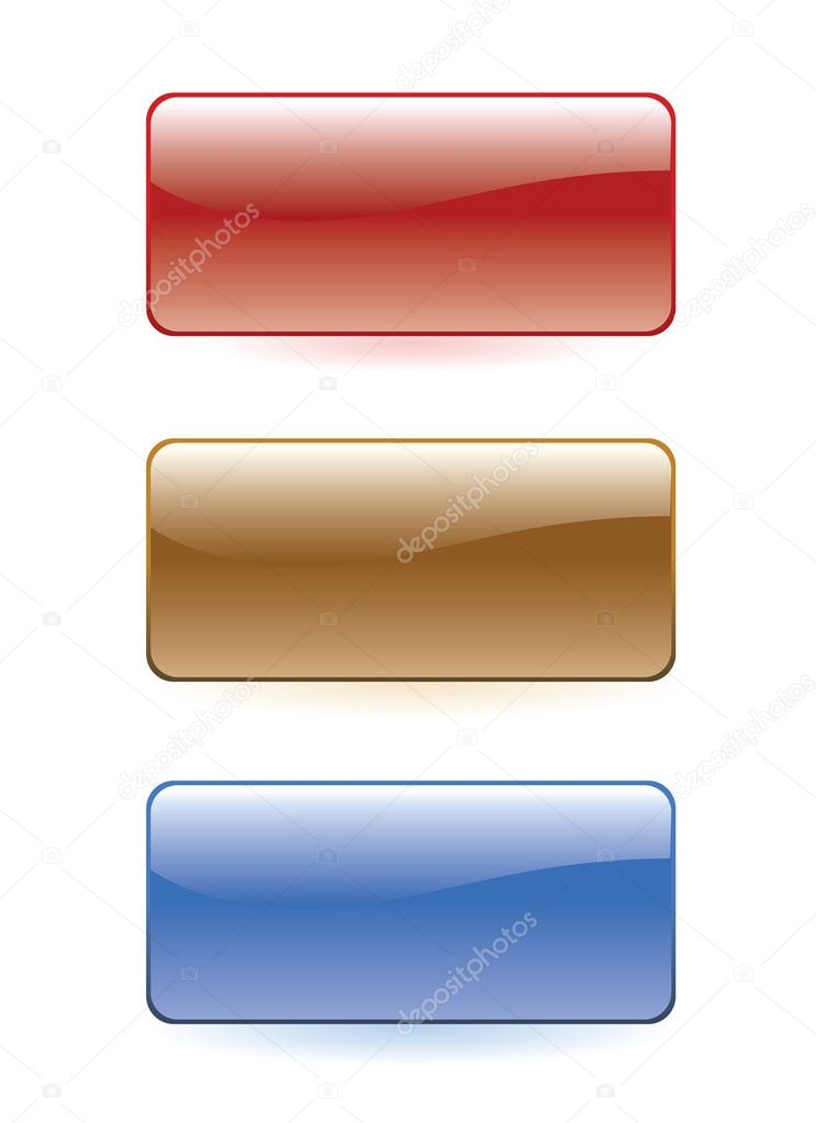 Set of colorful glass buttons — Stock Vector #1539454