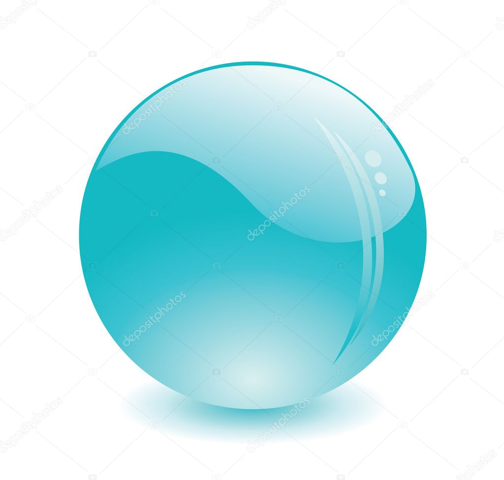 Isolated vector glossy color ball  — Stock Vector #1539459