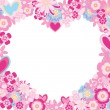 Heart of flowers — Stock Vector #1591222