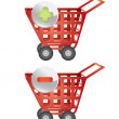 Stock Vector: Shopping baskets