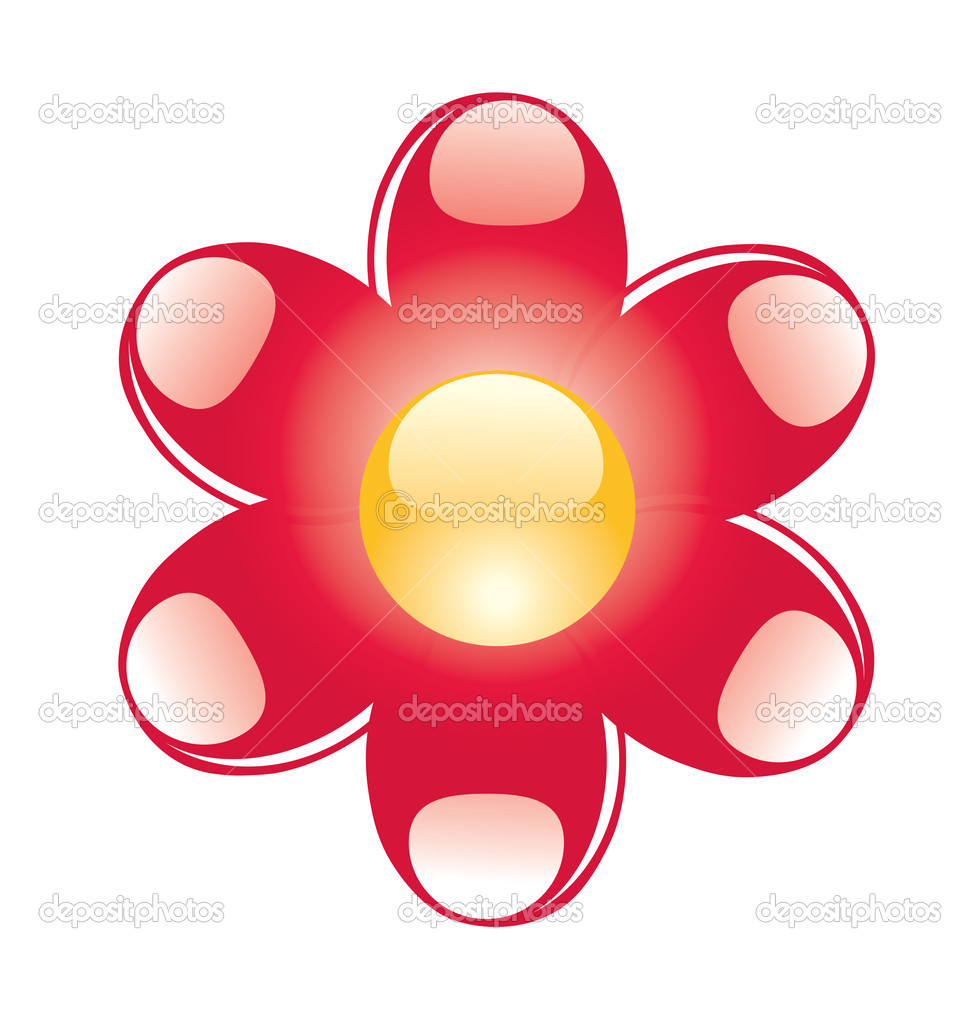 Glass flower. can be used as icon — Stock Vector #1591068