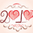 Love year 2010 - Stock Vector