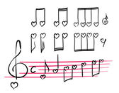 Romantic musical notes — Vetorial Stock