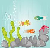 Marine childish illustration — Stock Vector