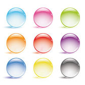 Glass balls — Stock Vector