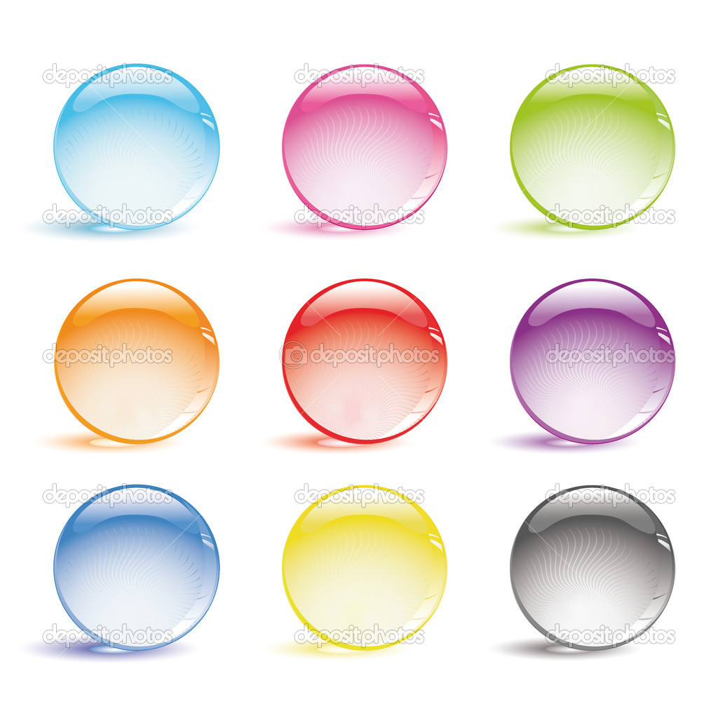 Vector set of glass balls  Imagens vectoriais em stock #1997323
