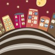 Cartoon houses - Imagen vectorial