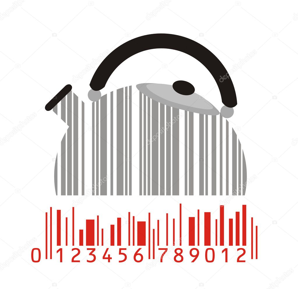 Kitchen element as stylized barcode — Stock Vector #2470535