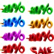 Set of sale percents - Stock Vector