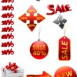 Ector great collection of red signs — Vector de stock #2281382