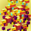 Royalty-Free Stock Imagen vectorial: Background from 3d cubes