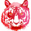 Head of a red tiger — Stock Vector #2281495