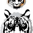 Two tigers - Stock Vector