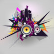 Vector de stock : Cityscape background, urban art