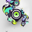Abstract musical composition — Stock Vector