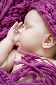 Sleeping baby girl — Foto Stock