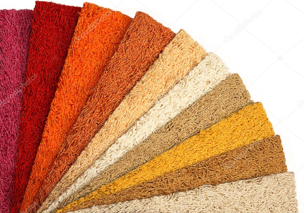 Samples of carpet coverings on a white background — Stock Photo #1289601