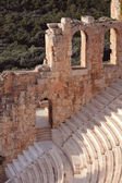Ruins of ancient amphitheatre — Stock fotografie